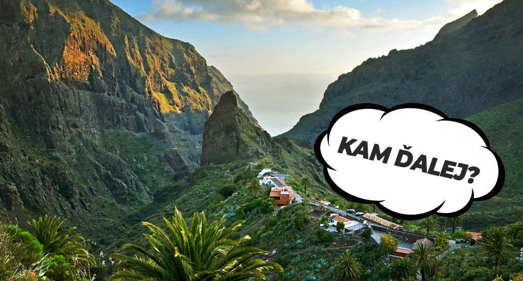 Kam ďalej z ostrova? Kanárske ostrovy v okolí. Tenerife.