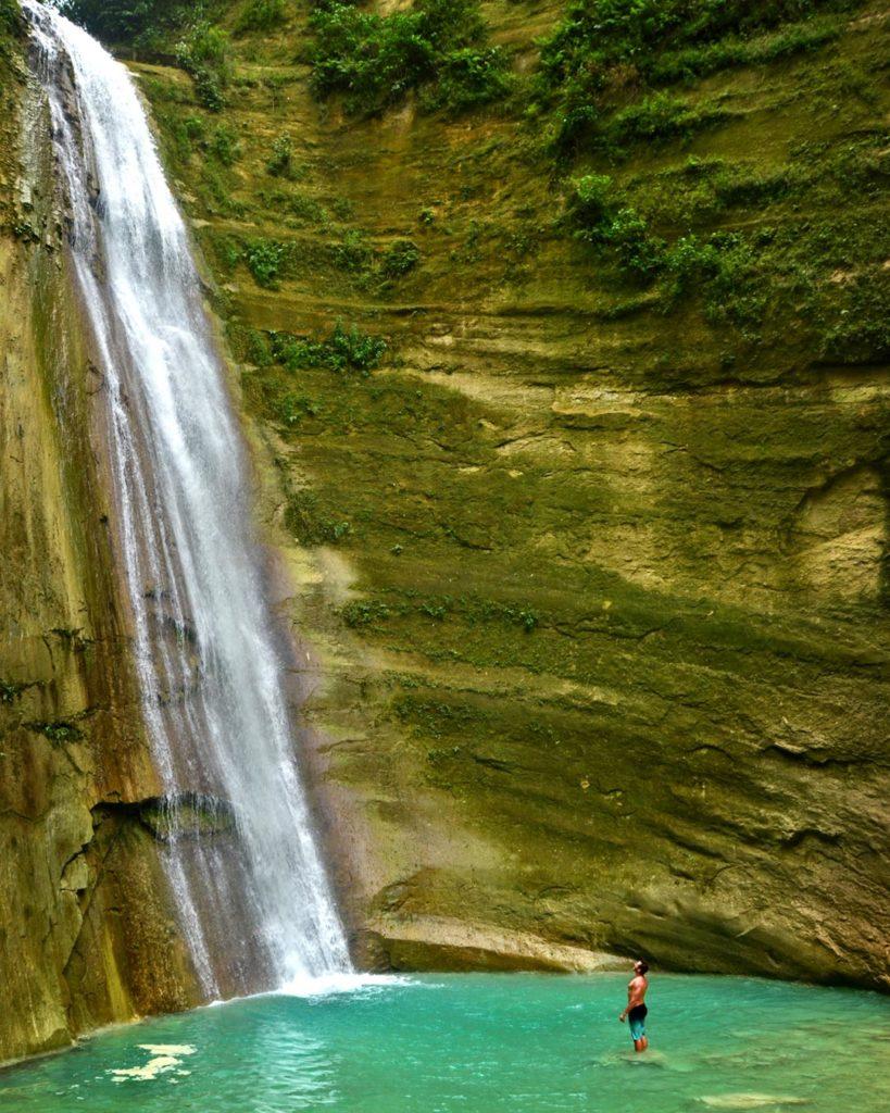 Samotný vodopád Dao Falls, ktorý sme mali celý pre seba.