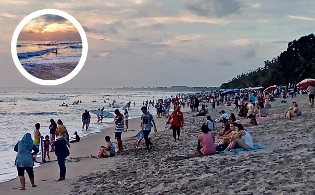Kuta, pláž, Bali