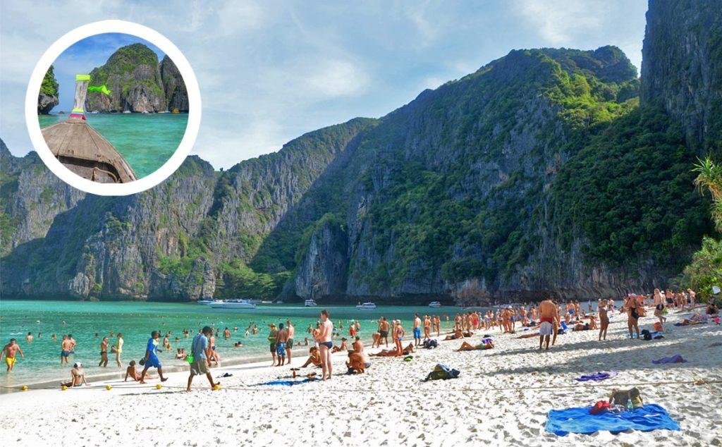 Maya Beach v Thajsku - očakávanie verzus realita