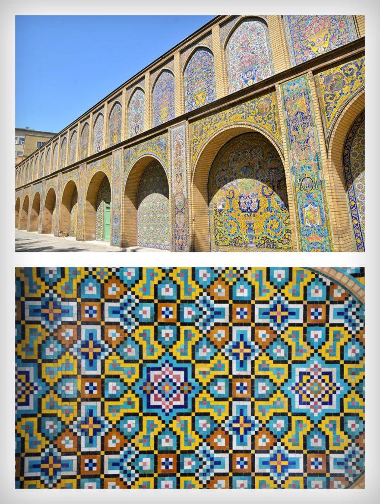 Tie vzory a mozaiky v Golestan paláci ma ako dizajnéra úplne dostávali :)