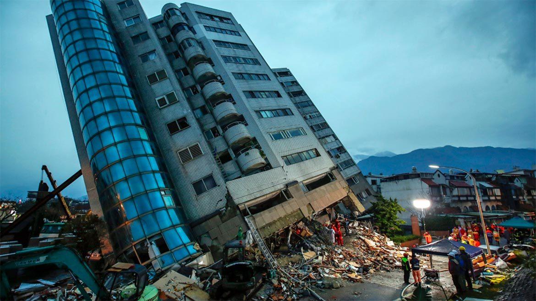 Zemetrasenie na Taiwane -Hualien.