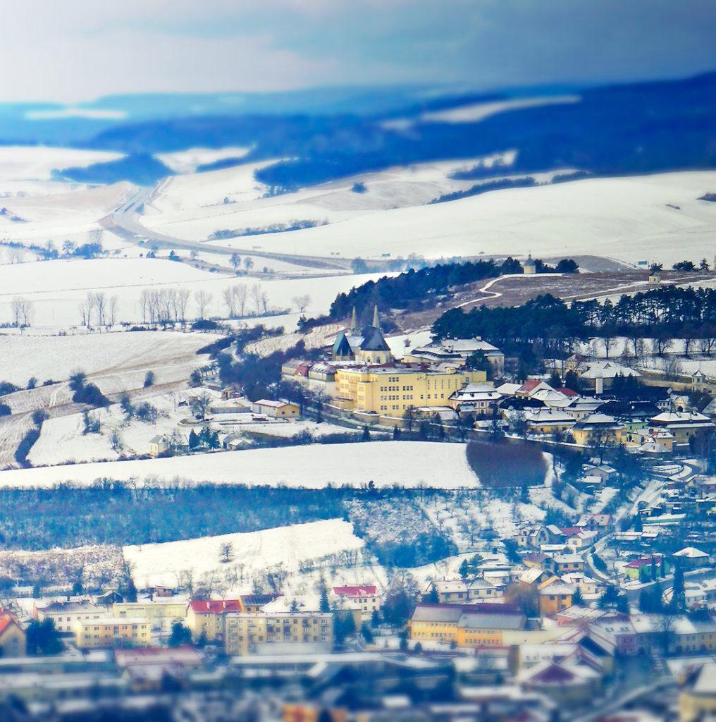 Výhľad na mesto Spišské Podhradie