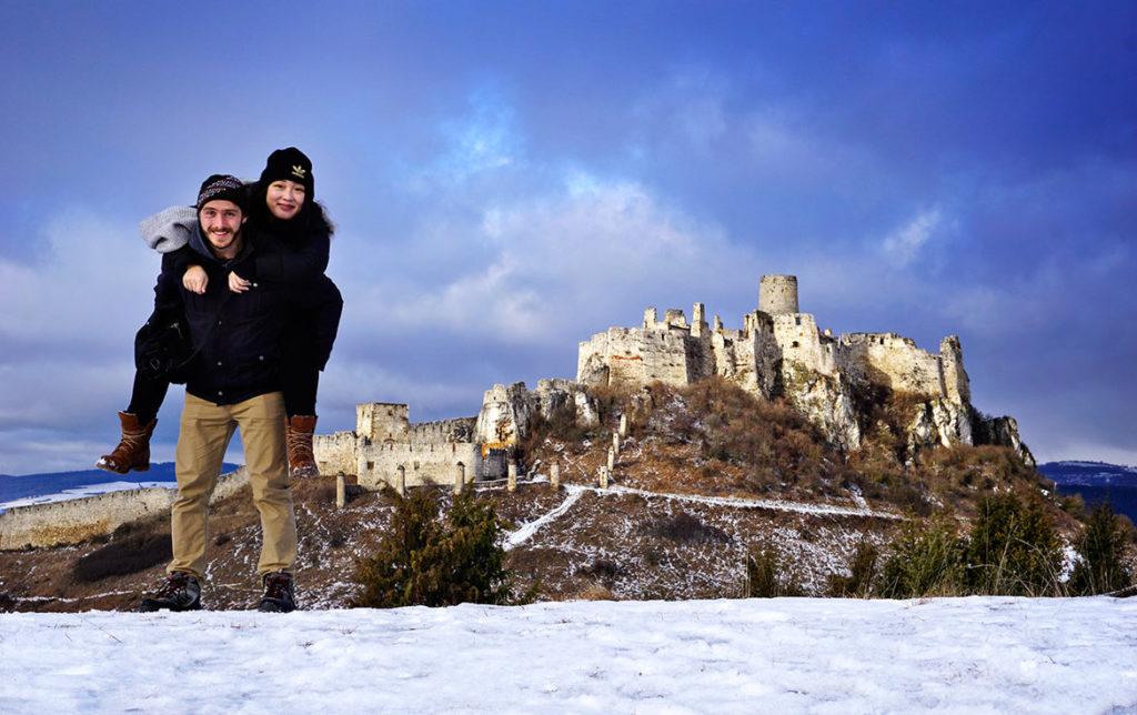 Spišský hrad v zime