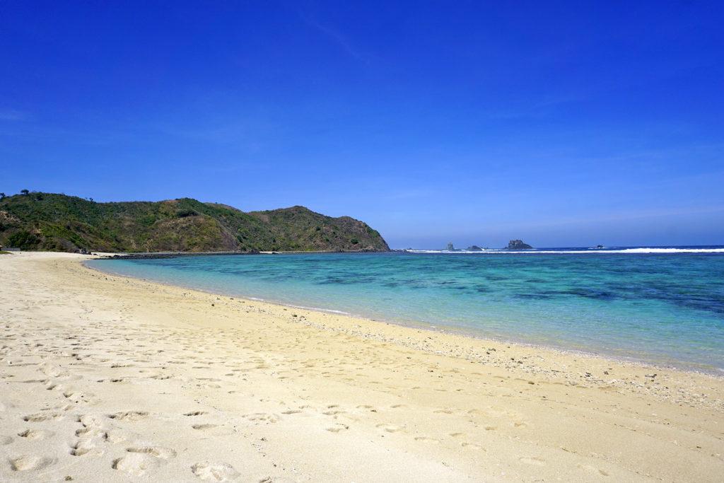 Pláž Tampah, ostrov Lombok, Indonézia