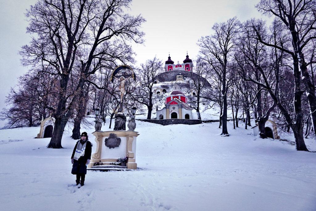 Banská Štiavnica a kalvária v zime